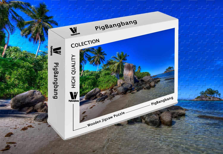 最新発見 PigBangbang、Intellectiv Games バスウッドカラフルセーシェル風景 - 1500ピースジグソーパズル - (34.4 Games X (34.4 22.6インチ) B07JLPQXX4, 天然石ピアスマーサ:3f102b9a --- domaska.lt