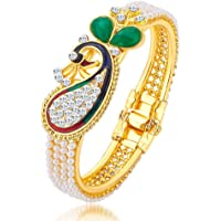 Sukkhi Kadaa Bracelet for Women (Golden) (12120KADS650)