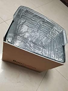 Thermal Box Liners 10''x3 Metalized Box Liners 10''x 3 Pack of 5 Insulated Box Liners. Food Grade. Gusseted Bottom. Adhesive Strip. Mailing, Shipping, Packing, Packaging, Moving.