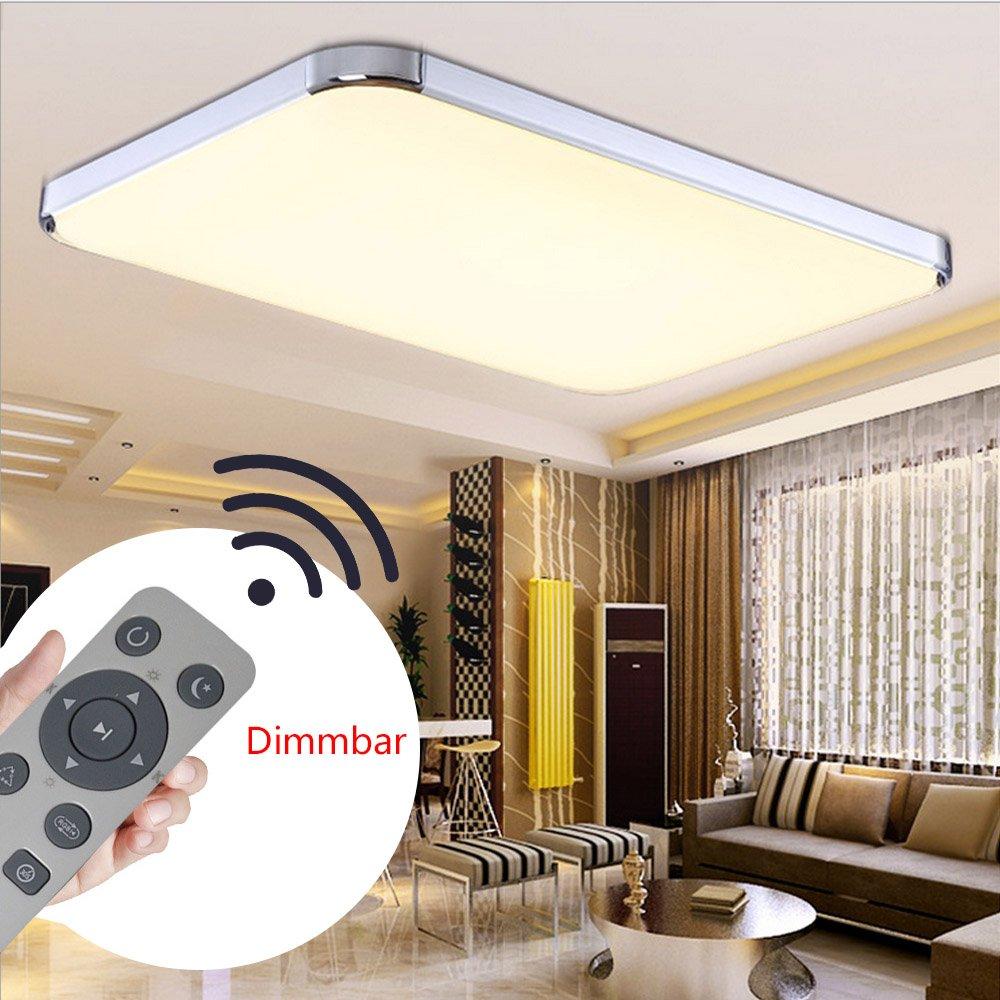 MYHOO 64W Dimmbar Ultraslim Wohnzimmer LED Deckenleuchte Modern ...