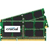 Crucial 16GB Kit (8GBx2) DDR3L 1866 MT/s  (PC3-14900) SODIMM 204-Pin Memory For Mac - CT2K8G3S186DM