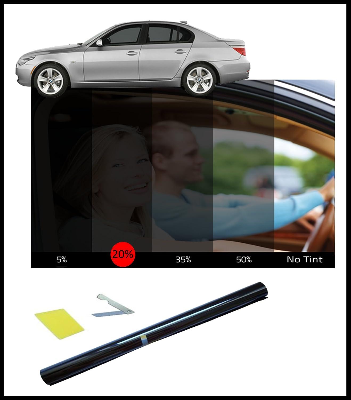 flexzon Car Window Tint Film Tinting Dark Black Smoke 20% 76cm X 6M