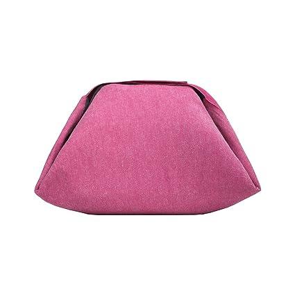 Rolleat - EatnOut Mini Eco - Bolsa Tupper Impermeable | Bolsa Térmica porta Tupper convertible en Mantel con Cremallera, Color Rosa