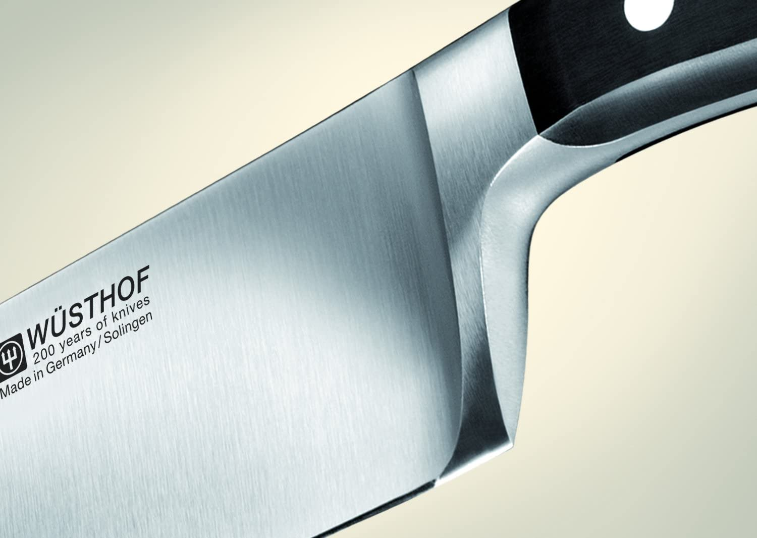Classic knives only need to be sharpened once or twice a year