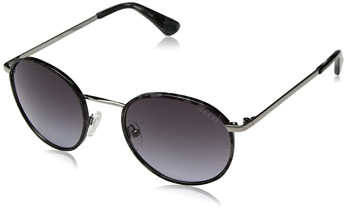9a83223f2134c Amazon.com  GUESS Women s Metal Round Sunglasses 10B 51 mm  Clothing