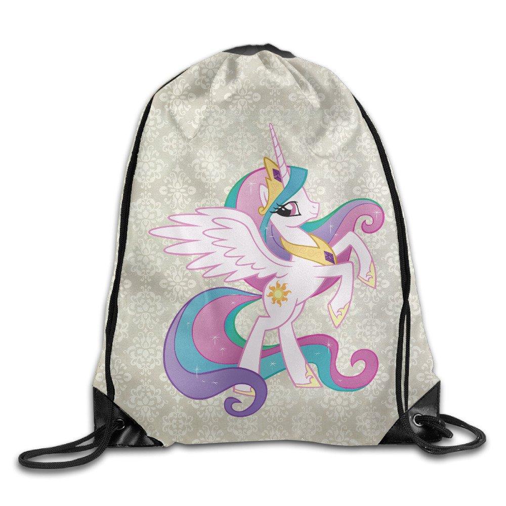 Creative Design Princess Celestia My Little Pony Drawstring Backpack Sport Bag For Men And Women hot sale 2017