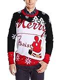 Leapparel Unisexe Noël Pulls pour Homme Femme Col Rond Jumper Tricotés Douces Ugly Christmas Sweater