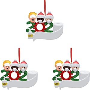 Regpre Pandemic 2020 Christmas Ornament Quarantine Ornament Sets for Christmas Tree Decorations