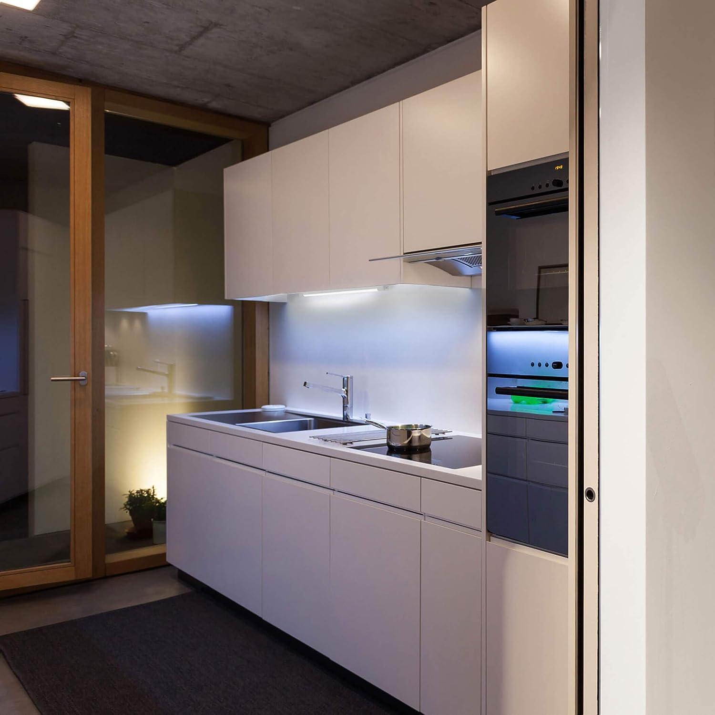 SEBSON® LED bajo mueble 50cm, Tiras de luz con enchufe e interruptor, blanco neutro 4000K, 4W Equivale de 25W, 700 Lumen, 230V, IP20, 24x13x500mm: Amazon.es: Iluminación
