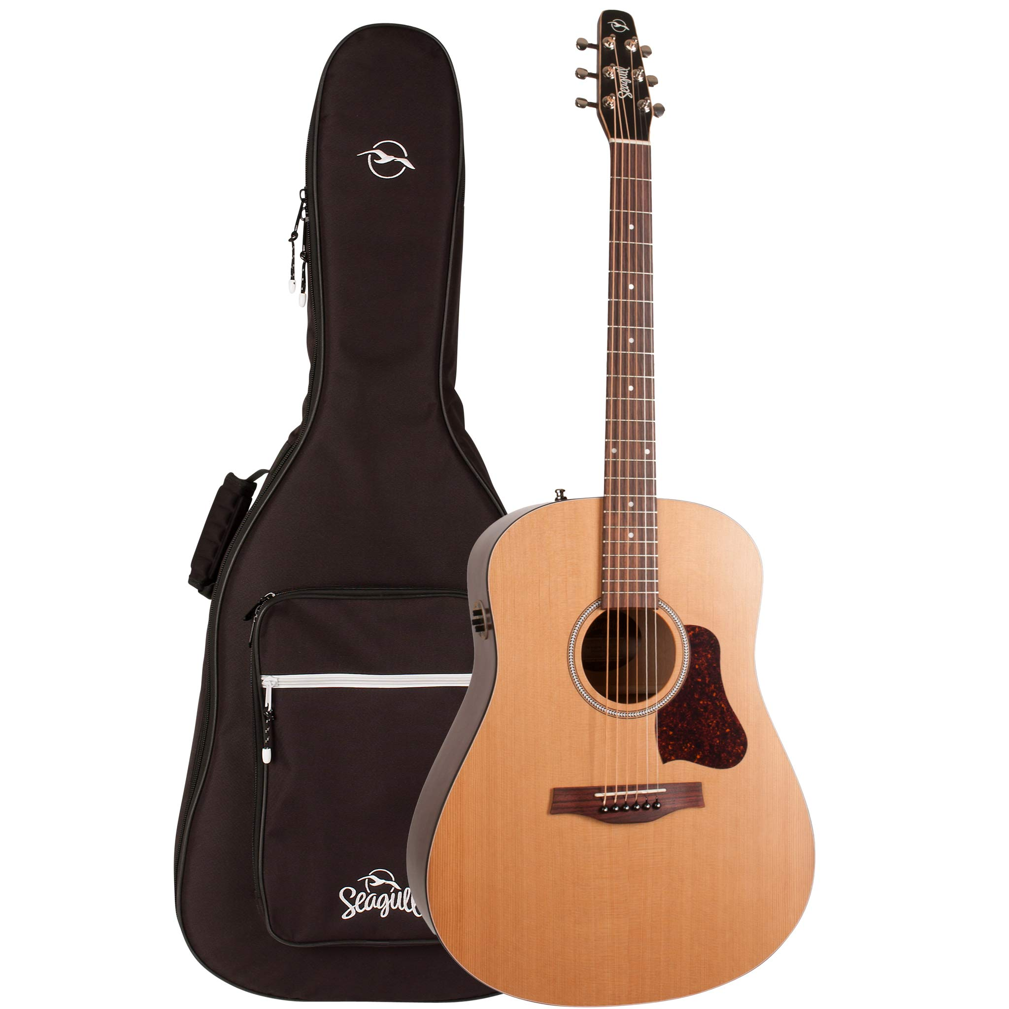 Seagull S6 Original Slim QIT Acoustic Electric Guitar with Gig Bag (46416) by Seagull