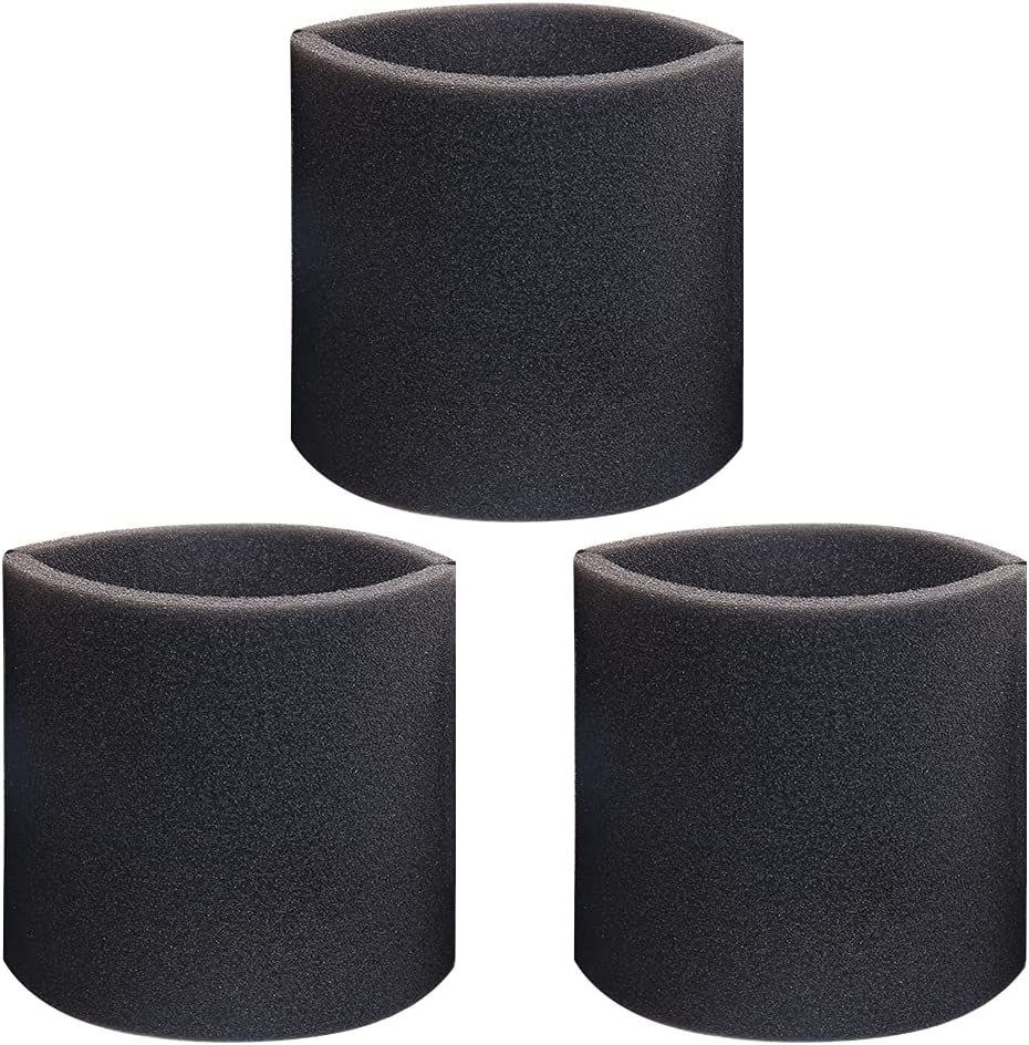 3 Pack 90585 Foam Sleeve Filter Replacements for Most Shop-Vac, Vacmaster & Genie Shop Wet Dry Vacuums, VF2001 Foam Filter for Wet Dry Vacuum Cleaner
