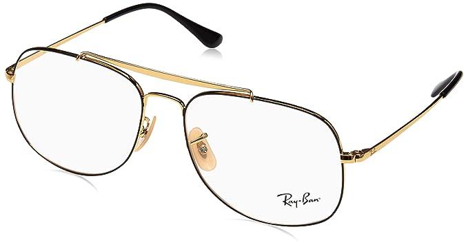 859962f1089 Ray-Ban rx6389 55 2946 le général lunettes en or noir RX6389 2946 55   Amazon.fr  Vêtements et accessoires