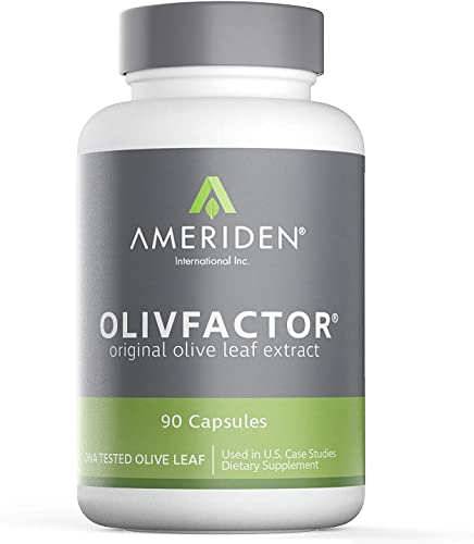 OLIVFACTOR- Original Olive Leaf Extract-DNA Tested Potent 20 Standardized Active Oleuropein 90 Vcaps 525mgs