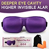 Amazon Price History for:AMAZKER 3D Sleep Mask Upgraded Invisible Alar & Deep Orbit Eye Mask for Sleeping Anti-fade Anti-bacterial Anti-mite Contoured Face Mask Blindfold with Ear Plugs Travel Pouch Best Night Eyeshade