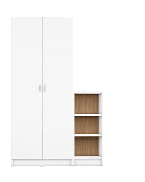 Manhattan Comfort Greenwich 2 Piece Trente 2.0 And Tall 1.0 Horizontal  Bookcase Collection Modern Free Standing