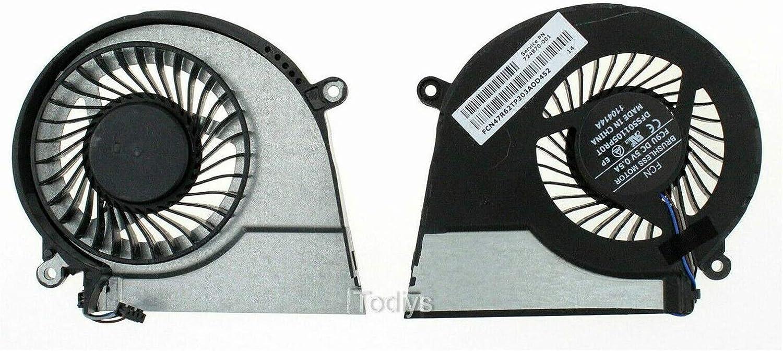 Todiys CPU Cooling Fan 724870-001 for HP Pavilion 14-E 15-E 17-E Series 15-E015NR 15-E021NR 15-E022NR 15-E030WM 17-E016DX 17-E024NR 17-E118DX 17-E155NR 17-E180NR 17-E189NR 17-E119WM
