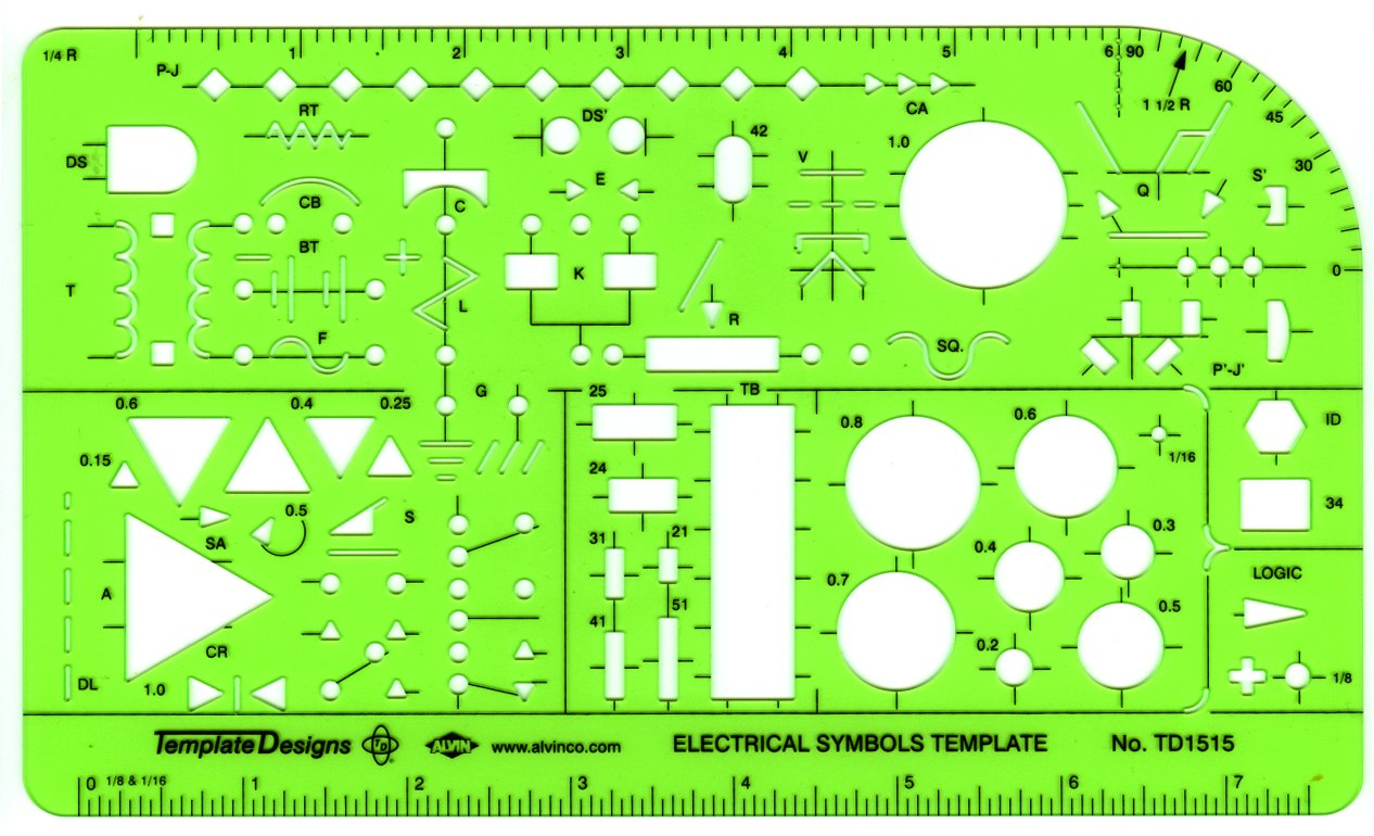 Alvin TD1515 Electric/Electronic Template
