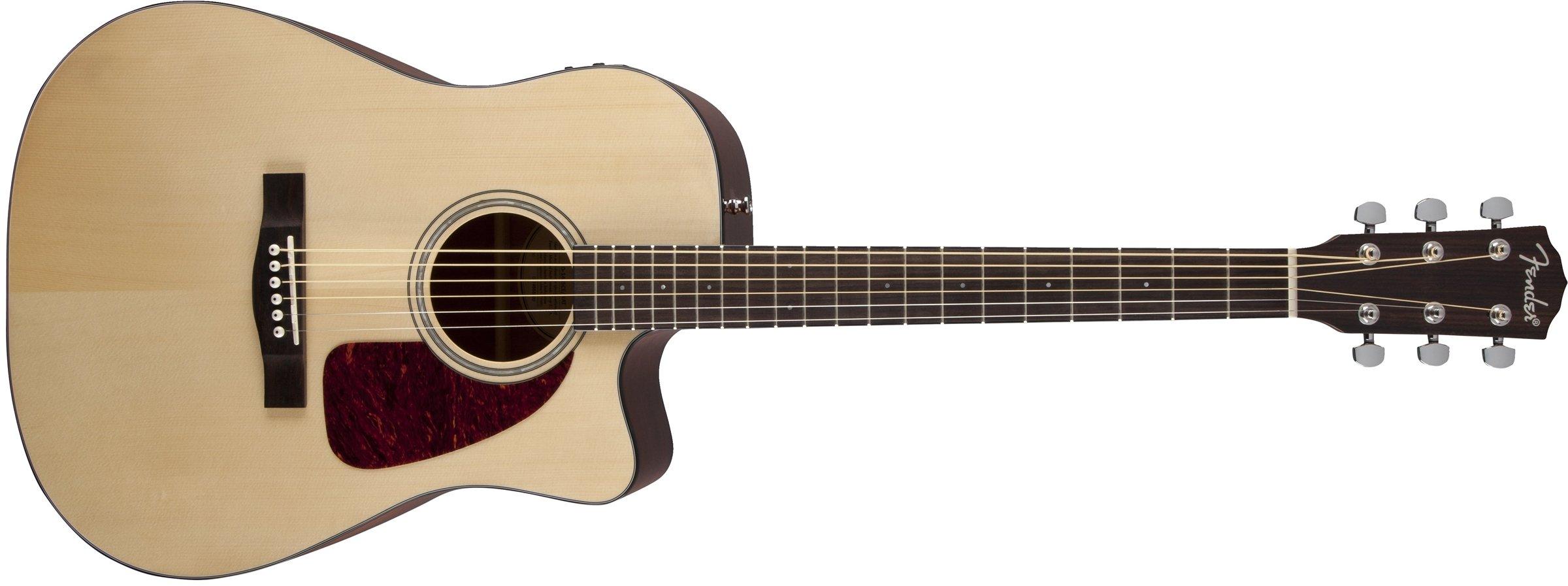 Fender Beginner Acoustic-Electric Guitar CD-140SCE - Natural - Dreadnought - Cutaway