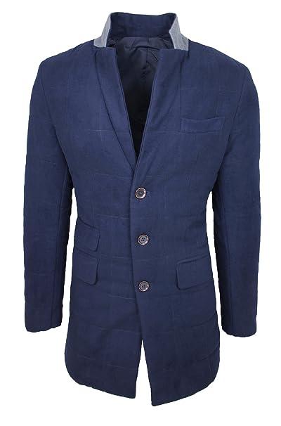 Mat Sartoriale Cappotto Soprabito Uomo Invernale Blu Giacca Trench Elegante  Casual  Amazon.it  Abbigliamento 50346fcf720