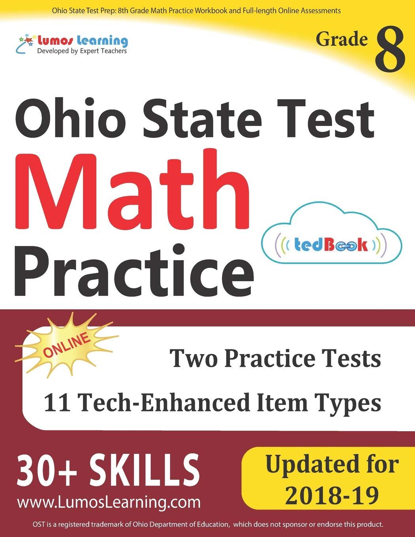 Ohio State Test Prep: 8th Grade Math Practice Workbook and