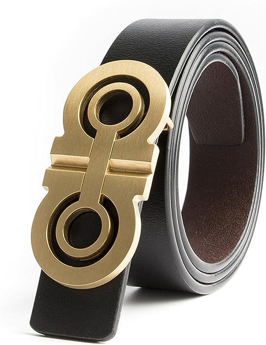 Hombre Cinturones Diseñador de latón macizo de lujo H cinturones hombres de  alta calidad hombre mujeres Genuino cuero genuino Gg correa de hebilla  doble G ... ef5ff835cf63