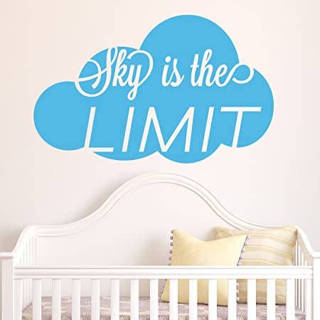 Sky is the limit wall sticker by stickerstudio