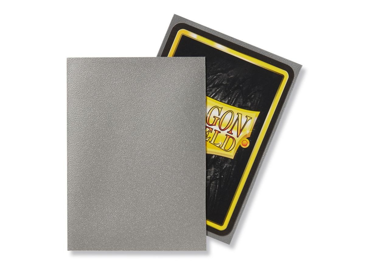 Dragon Shield Bundle Silver Caelum Limited Edition Playmat Matte Silver Caelum 100 Count Standard Size Card Sleeves Arcane Tinmen