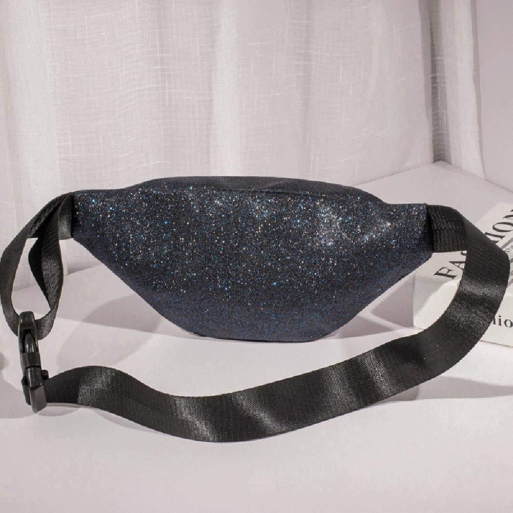 Fashion Women Sequins Hobos Shoulder Waist Fanny Chest Packs Crossbody Bags ForU-1 Fanny Pack Waist Bag