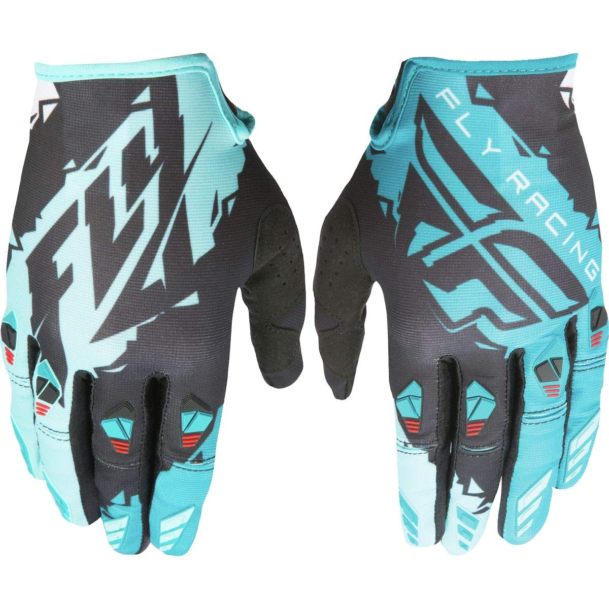 Fly Racing Unisex-Adult Kinetic Gloves Black//Dark Teal X-Small