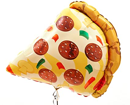 amazon com 29 mylar pizza slice super shape balloon toys games
