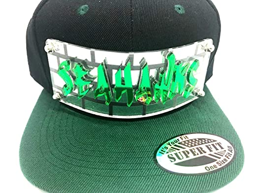 53f7c7509f8 Personalized Custom Snapback Hat Six Panel Flat Bill Snap Back Hat Cap with  Laser Cut Graffiti