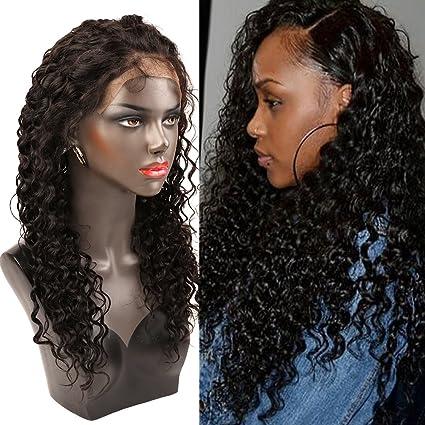 """Bella Hair 14"""" 360 Encaje Peluca Cierre Frontal Densidad 150% Cabello Virgen Humano Profundo"""