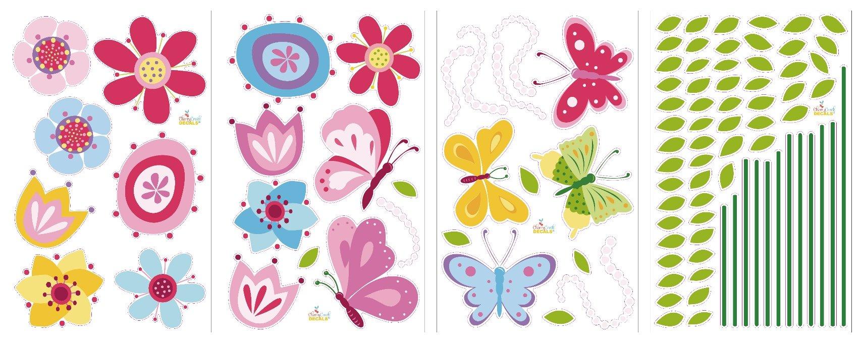 Bright Butterfly Garden Decorative Peel & Stick Wall Art Sticker Decals by CherryCreek Decals (Image #4)
