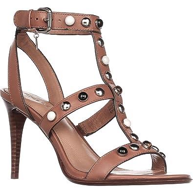 063c85de551a Coach Womens Isabel Leather Open Toe Casual Ankle Strap Sandals