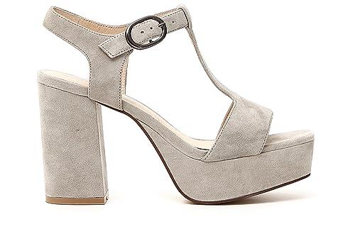 Caf Noir ND504 scarpa sandalo T donna camoscio taupe