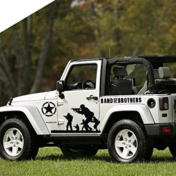 Kaizen band of brothers vinyl sticker side skirt decal whole body graphic decal for jeep wrangler