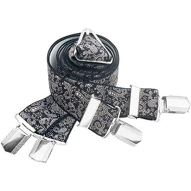 LINDENMANN Hosenträger Herren 35 mm breit Herren-Hosenträger mit 4 Clip X-Form