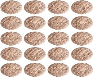 uxcell Wood Button Plugs 0.4 Inch Oak Hardwood Screw Hole Furniture Plugs 50 Pack