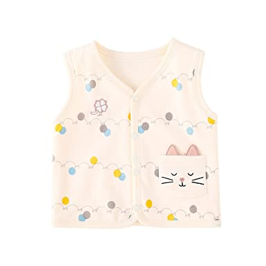 16762547e Amazon.com  pureborn Baby Girls Boys Sleeveless Cotton Lightweight ...