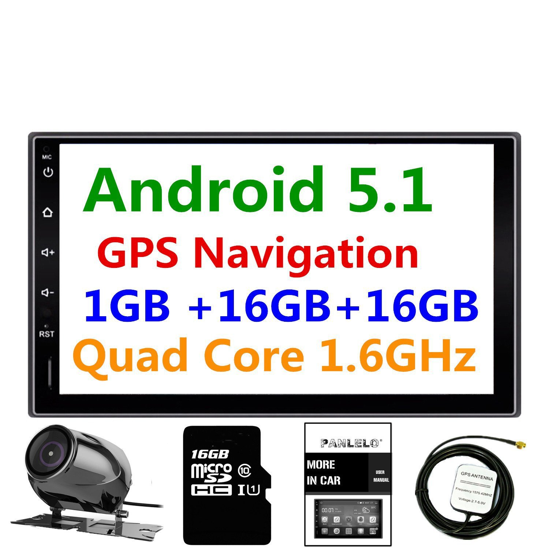 Panlelo Pa 09yz16 7 Inch 2 Din Head Unit Android 51 Quad Core Ram Subaru Navigation Wiring Diagram 1g Rom 16g Gps Car Stereo Audio Radio 1080p Video Player Built In Wi Fi