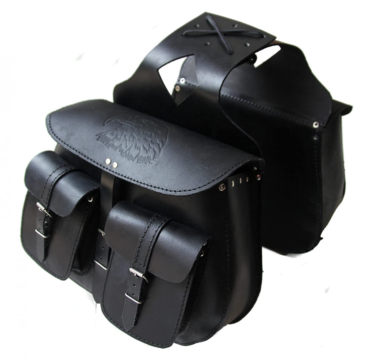 Karno-Motorsport Kc503 Sacoches Moto Saddle Bags en Cuir