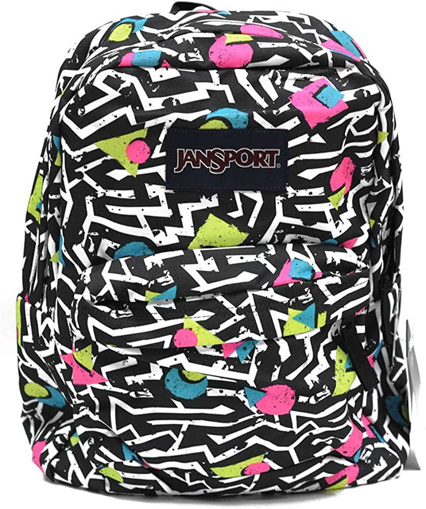 Classic Jansport Superbreak Backpack Black White Bebop T5010EK