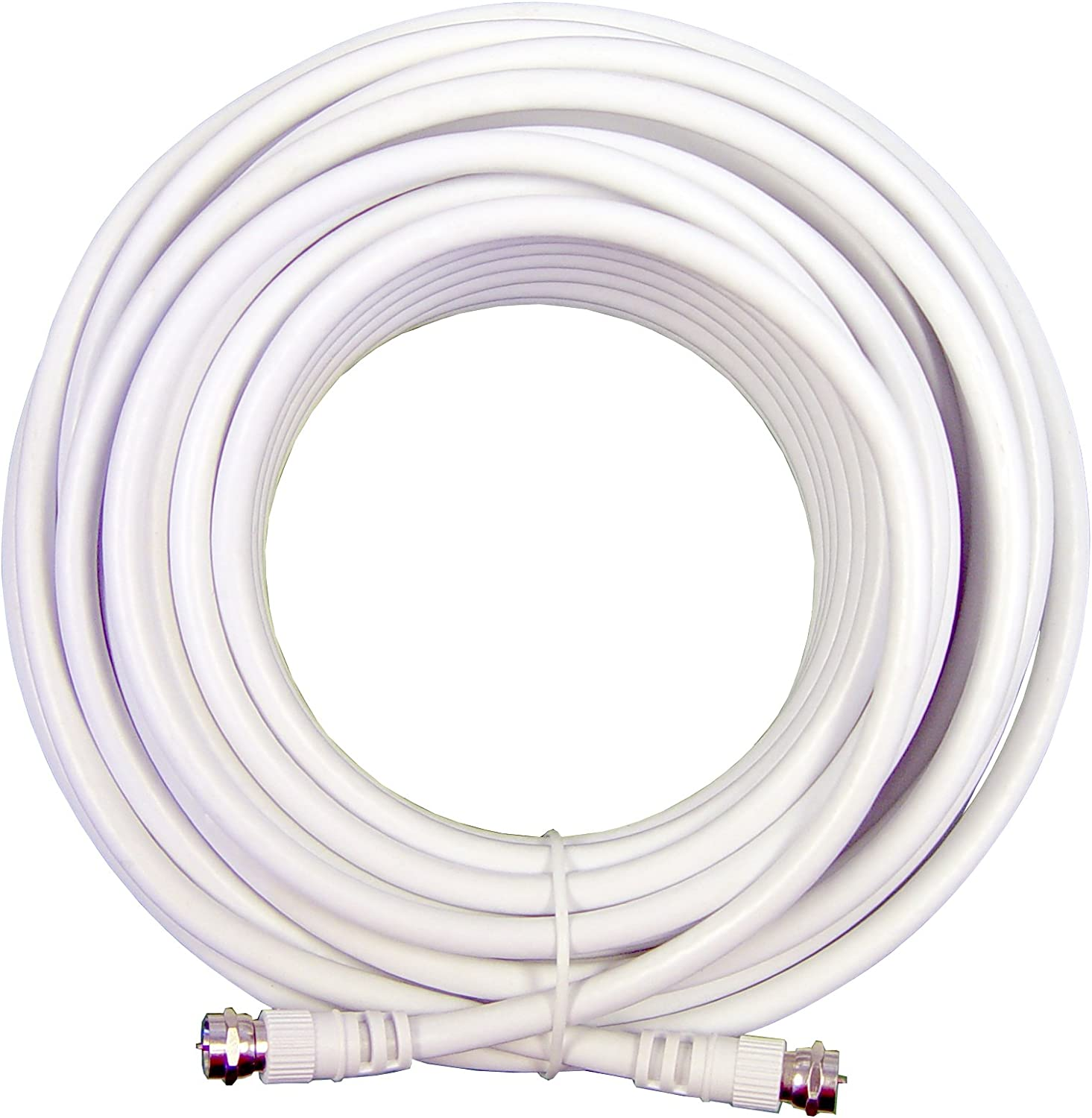 Wilson Electronics 20 ft. White RG6 Low Loss Coax Cable (F-Male to F-Male)