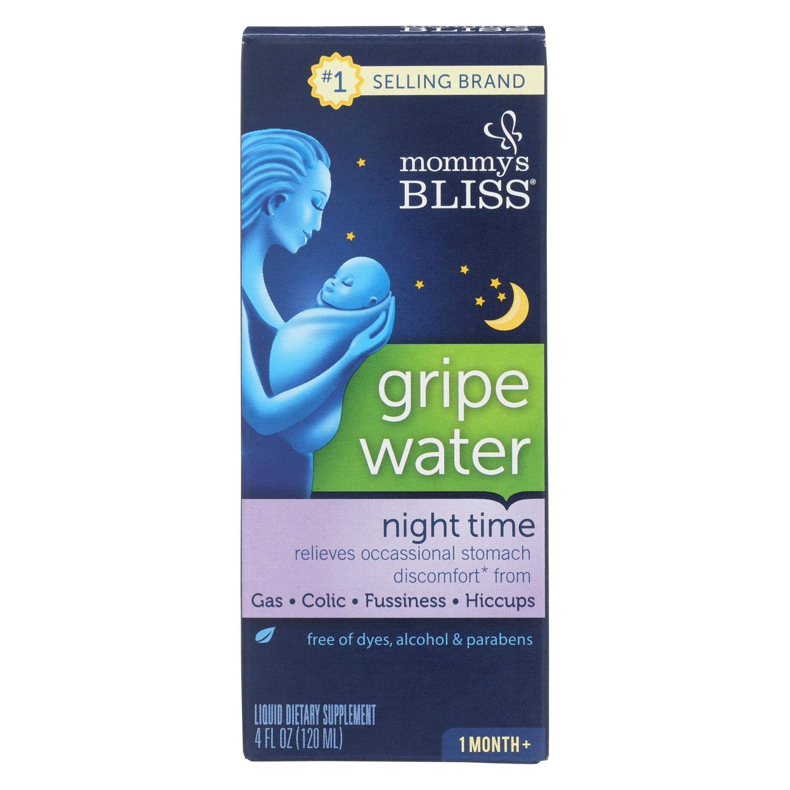 Mommys Bliss Gripe Water - Night Time - 4 oz (Pack of 6) by Mommy's Bliss