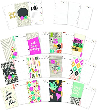 Carpe Diem by Simple Stories Personal Horizontal Format Weekly Planner Inserts