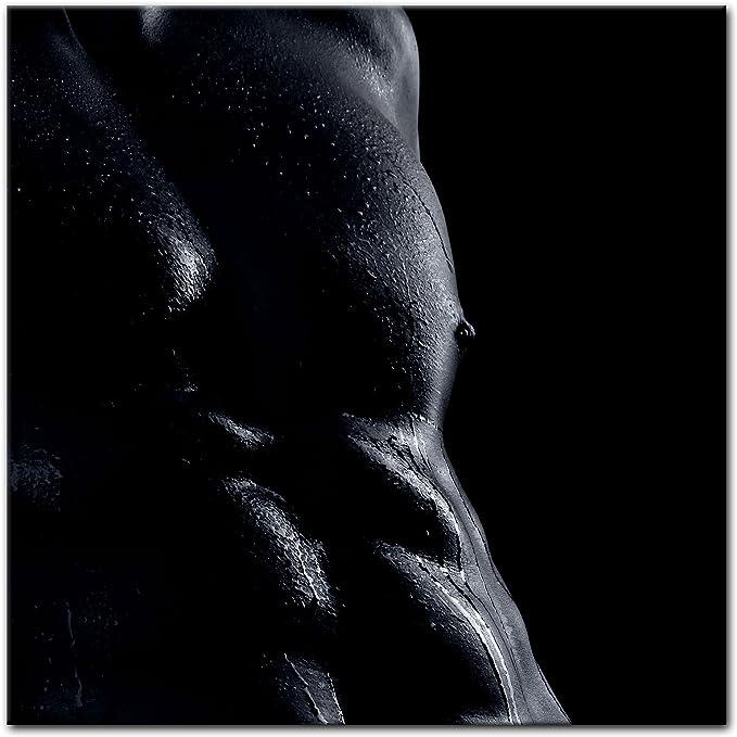 Bilderdepot24 Cuadros en Lienzo Hombre erótico - Monocromo - 40 x 40 cm - Listo tensa, Directamente Desde el Fabricante: Amazon.es: Hogar