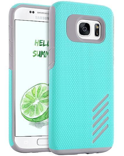 more photos 1099a 32e93 Galaxy S7 Edge Case, S7 Edge Case, BENTOBEN Dual Layer Hybrid Hard  Polycarbonate Flexible TPU Bumper Shockproof Drop Resistant Protective Case  for ...