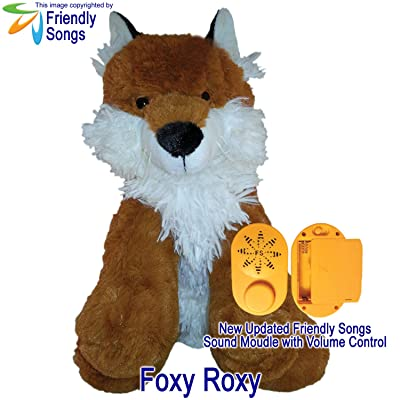 "Friendly Songs What Does The Fox Say - 19"" Singing Stuffed Plush Animal Called Foxy Roxy: Toys & Games"