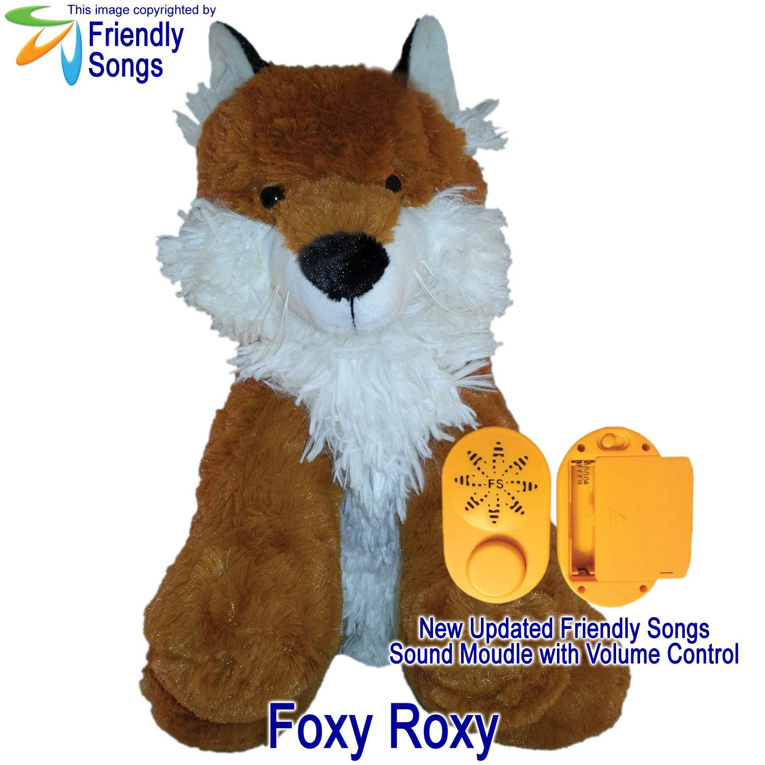 Friendly Songs What Does The Fox Say - 19'' Singing Stuffed Plush Animal Called Foxy Roxy
