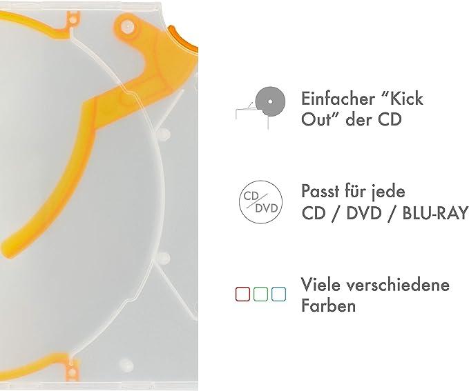 Cd Dvd Hülle Mit Auswurf Transparent Orange 50 Stück Kamera